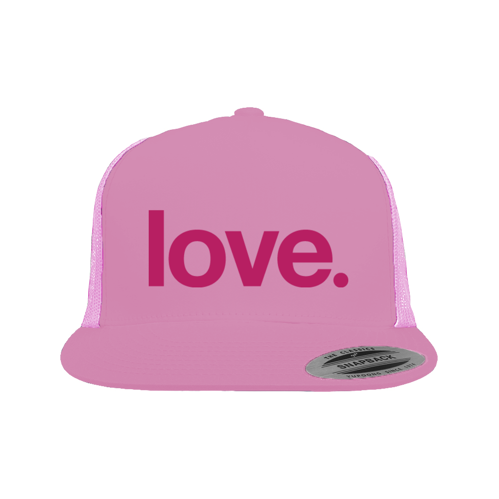 Love. - Trucker Hat with Magenta - Be More